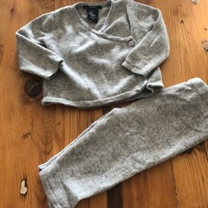 TAHARI cashmere baby outfit 3/6M